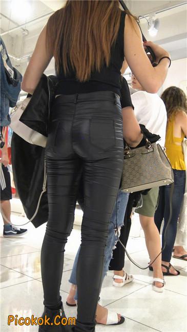 超极品黑色高跟紧身皮裤翘臀大美女第一季10