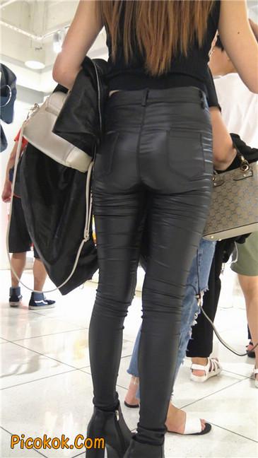 超极品黑色高跟紧身皮裤翘臀大美女第一季11