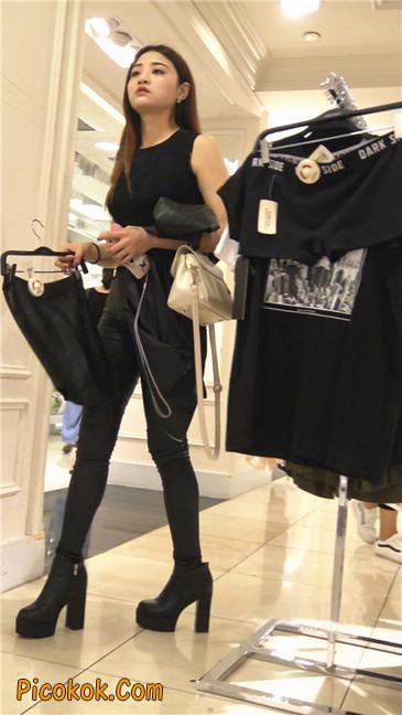 超极品黑色高跟紧身皮裤翘臀大美女第一季16