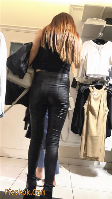 超极品黑色高跟紧身皮裤翘臀大美女第一季21