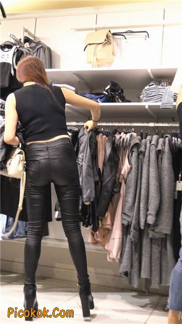 超极品黑色高跟紧身皮裤翘臀大美女第一季22