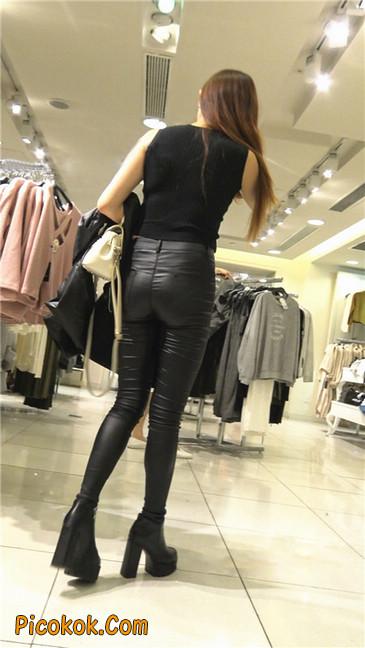超极品黑色高跟紧身皮裤翘臀大美女第一季25