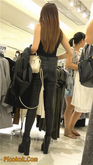 超极品黑色高跟紧身皮裤翘臀大美女第一季28