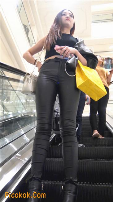 超极品黑色高跟紧身皮裤翘臀大美女第一季37