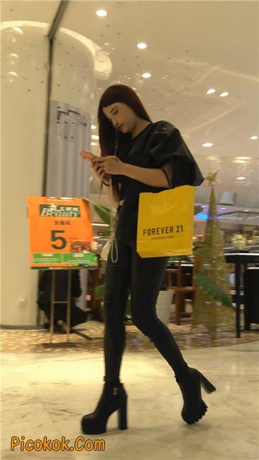 超极品黑色高跟紧身皮裤翘臀大美女第一季46