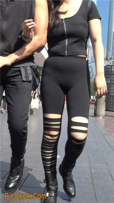 超极品!!紧身黑裤性感紧三角美少妇11