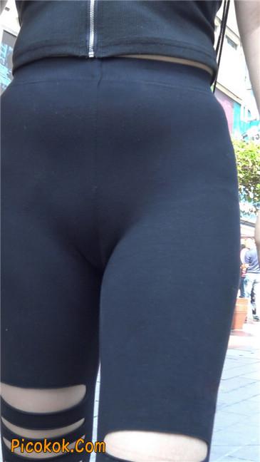 超极品!!紧身黑裤性感紧三角美少妇13