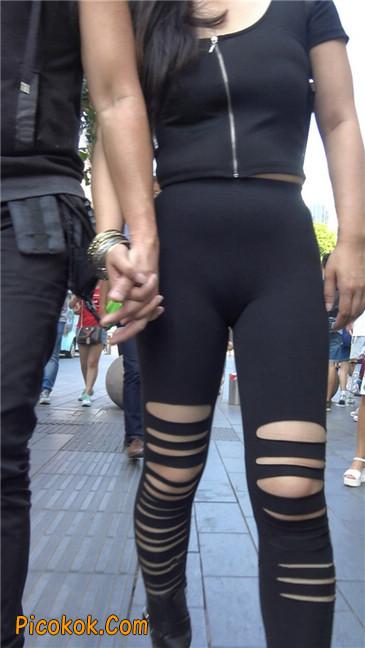 超极品!!紧身黑裤性感紧三角美少妇17