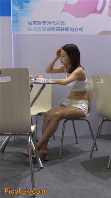 面目护理仪器女模特MM