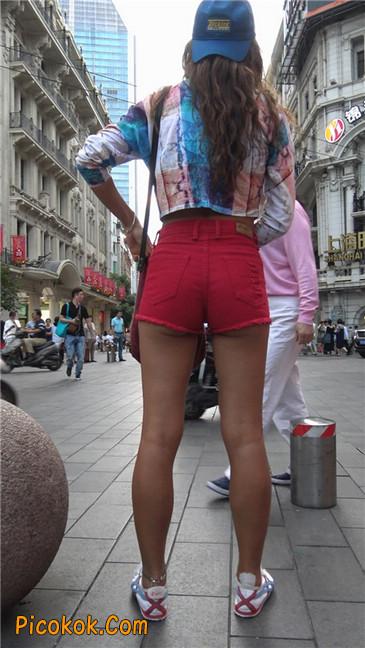 性感红热翘臀黝黑美女