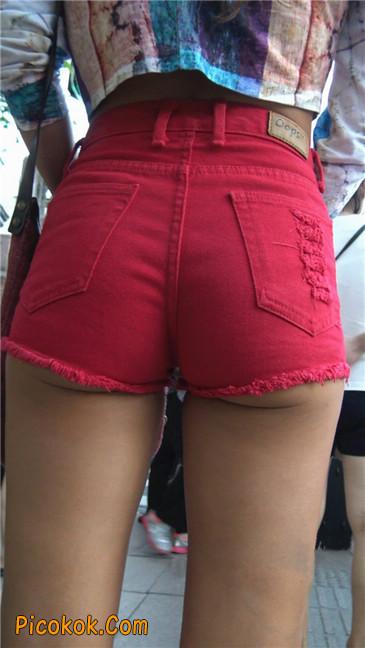 性感红热翘臀黝黑美女2