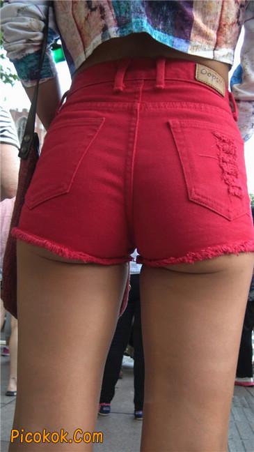 性感红热翘臀黝黑美女3