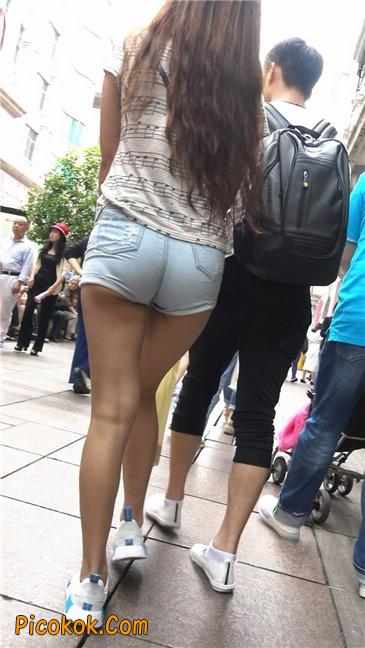 超极品超紧热裤超紧三角丰臀美女8
