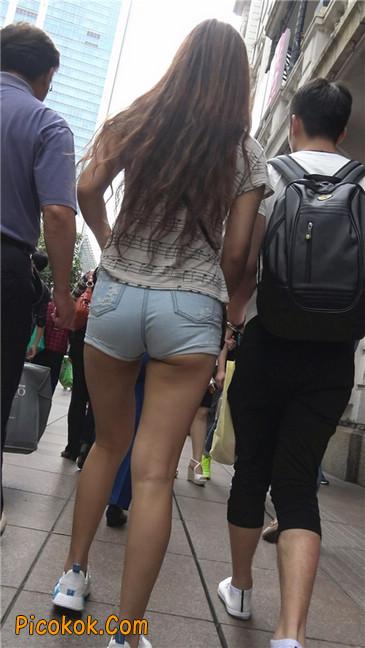 超极品超紧热裤超紧三角丰臀美女9