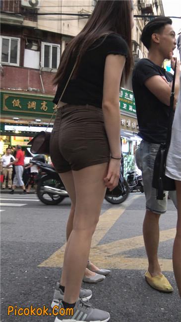 超极品性感丰腴大臀紧身热裤美女5