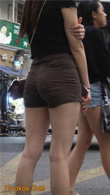 超极品性感丰腴大臀紧身热裤美女7