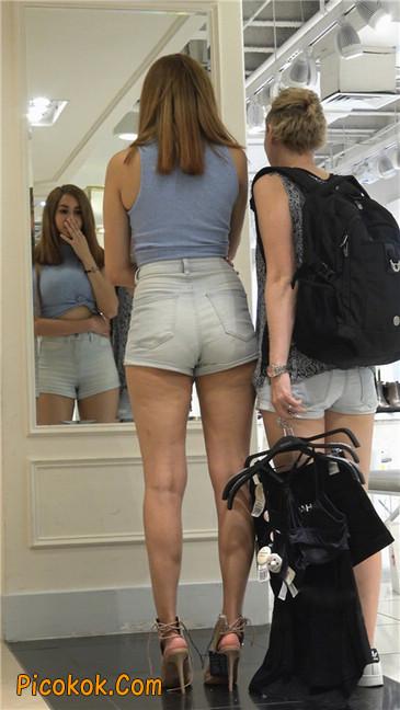 超性感高挑翘臀大胸美女买鞋2