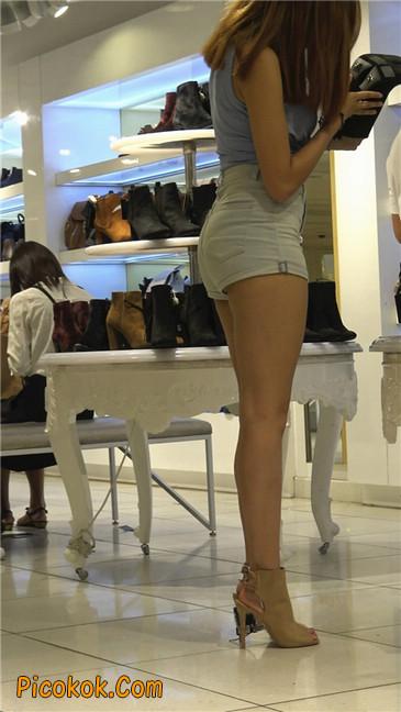 超性感高挑翘臀大胸美女买鞋15