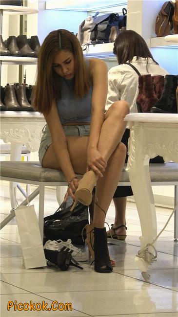 超性感高挑翘臀大胸美女买鞋18