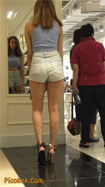 超性感高挑翘臀大胸美女买鞋20