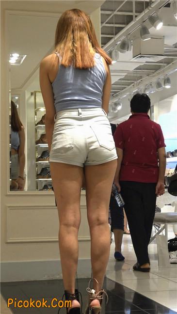 超性感高挑翘臀大胸美女买鞋21