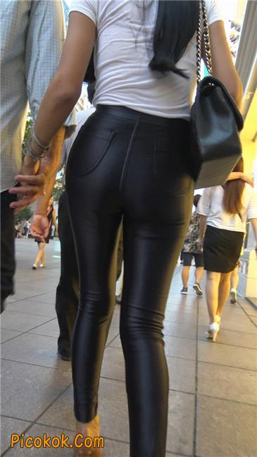 极品超性感紧身皮裤翘臀黄高跟大美女7
