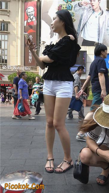 超性感包臀白热裤美女