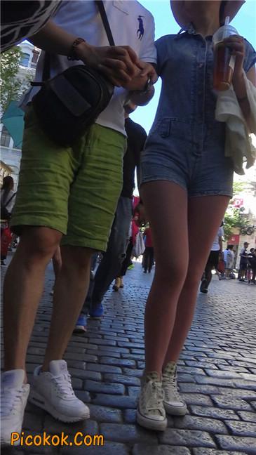 罕见的粉色丝袜高挑凉帽美女5