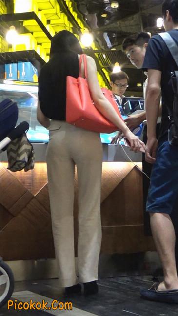 婉约大方束腰长裤,端庄迷人让人心动的美女5