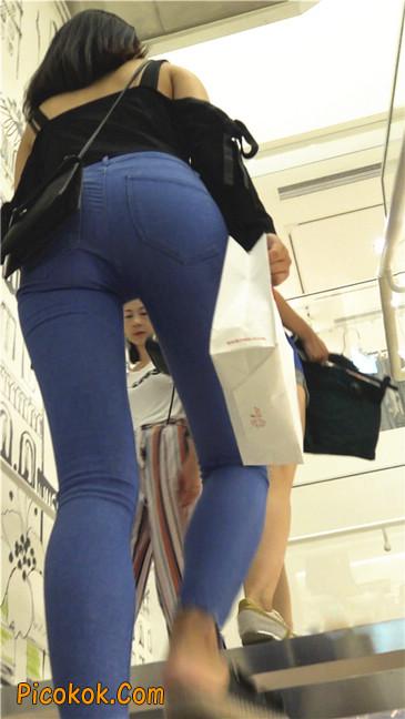 紧身蓝牛长腿MM6