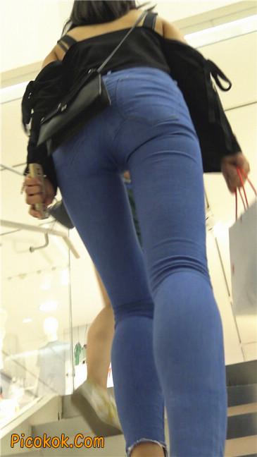 紧身蓝牛长腿MM7