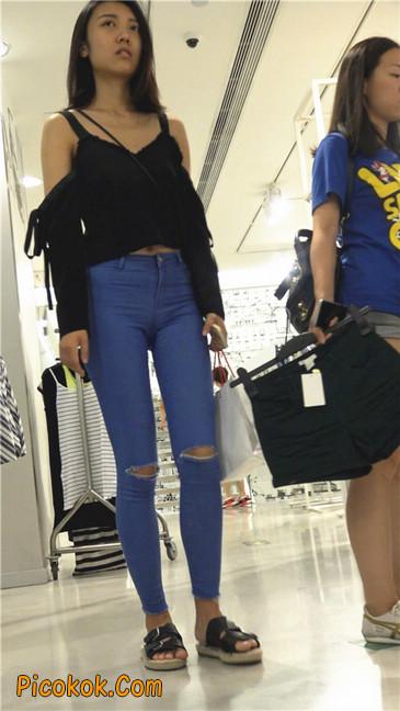 紧身蓝牛长腿MM9