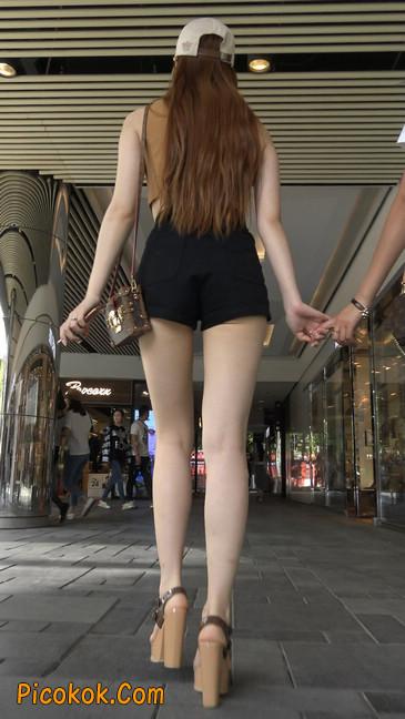 极品高跟黑热裤大长腿美女18