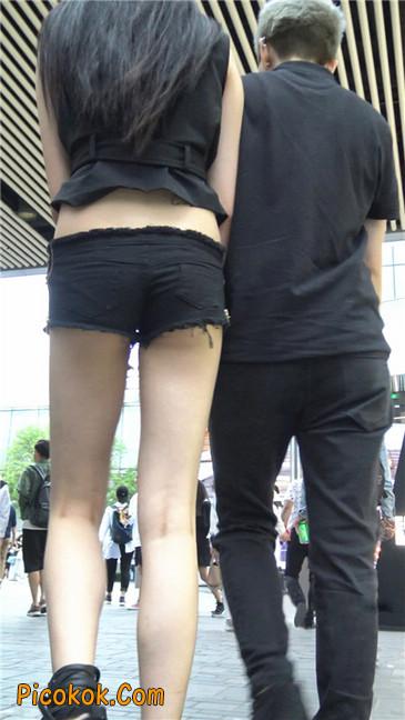大长腿小蛮腰超短紧身热裤美女2