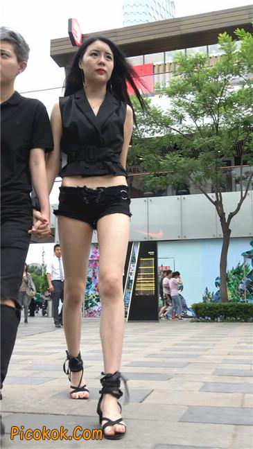 大长腿小蛮腰超短紧身热裤美女5