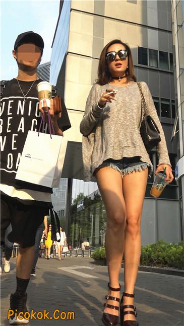 极品大长腿高跟墨镜美少妇16