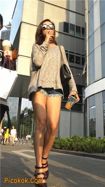 极品大长腿高跟墨镜美少妇17