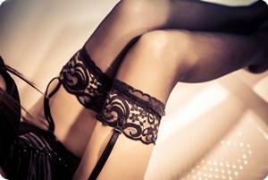 黑丝长筒袜,抚摸吧