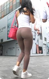 巧克力瑜伽裤美臀美女