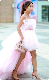 这个穿婚纱模特还不错的么