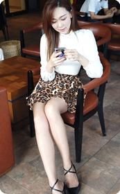 隔日再遇,上次咖啡厅的性感短裙美女 ★ fanloveally