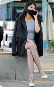 极品气质灰丝袜美女