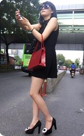 街拍身材与美貌并存的白富美