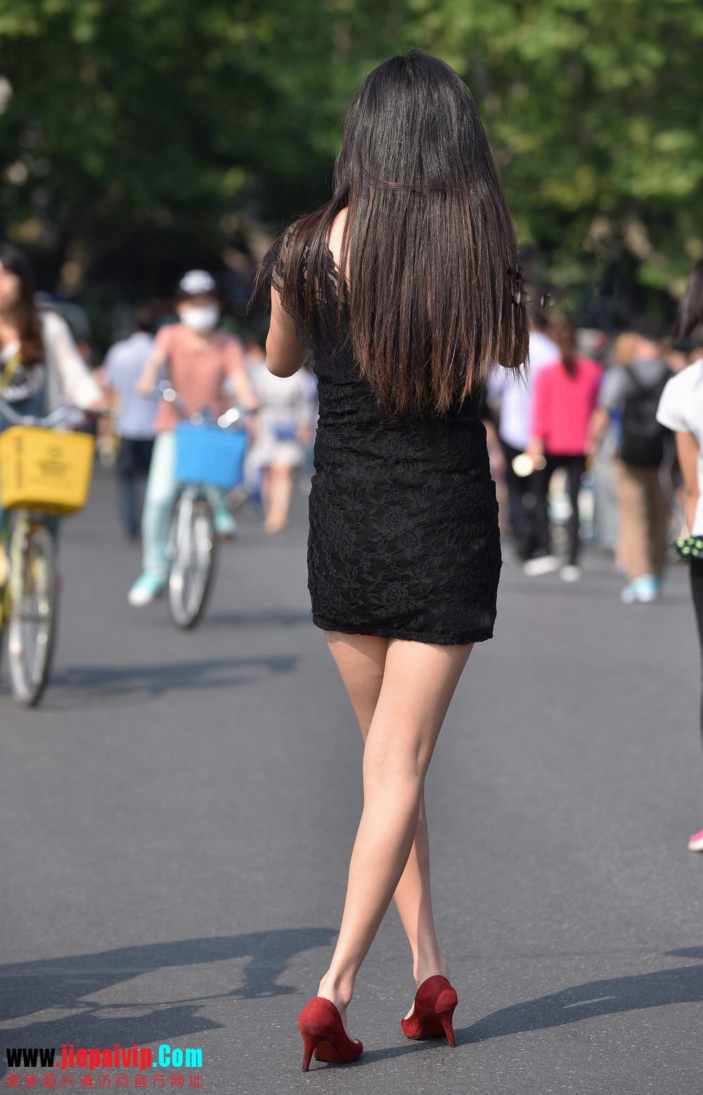 杭州街头街拍气质短裙美女6
