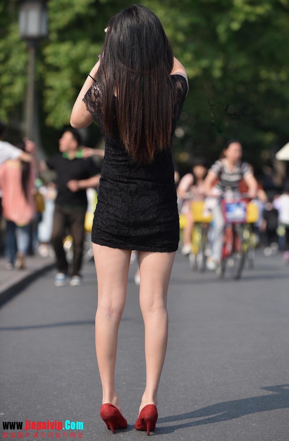 杭州街头街拍气质短裙美女7
