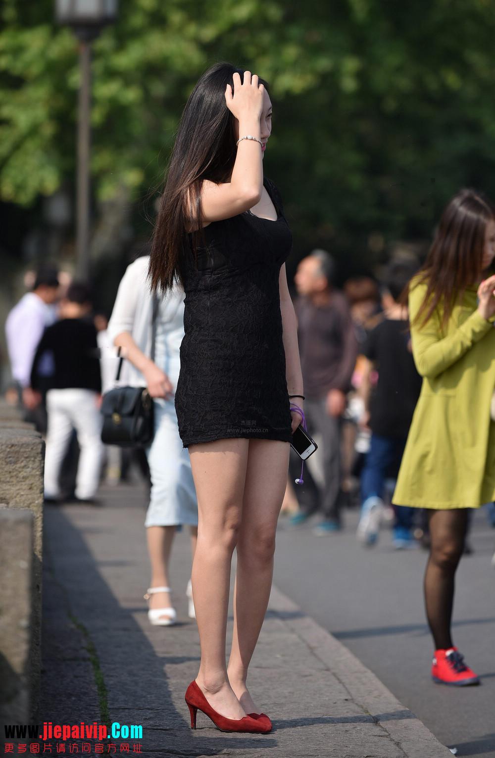 杭州街头街拍气质短裙美女10