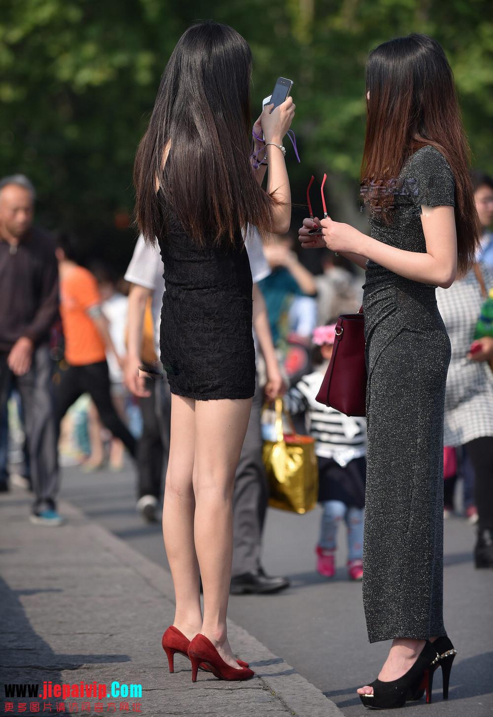 杭州街头街拍气质短裙美女11
