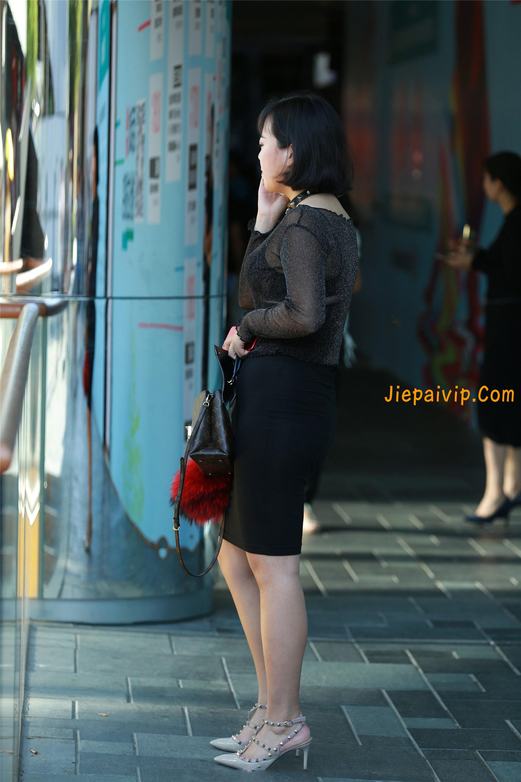 黑纱若隐若现,美腿包臀少妇9