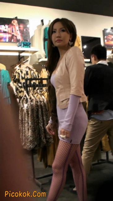 紫色网袜的高跟极品美女,三围很惹眼4