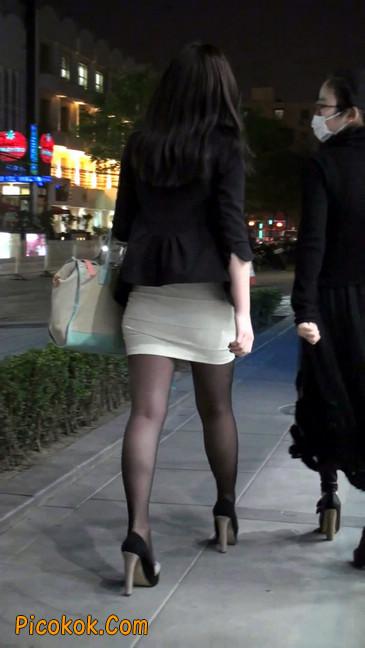 黑丝短裙紧身包臀的清纯美女,实际上并不清纯10